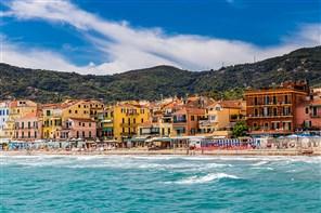 Festive Gold Christmas in Alassio Italian Riviera