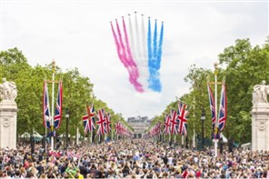 RAF 100 Parade and Big Fly Pass London