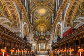 St Pauls Cathedral London GOLD